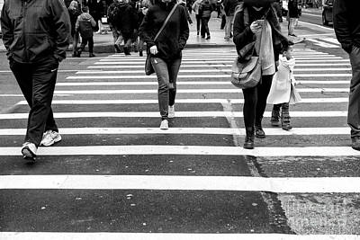 Photograph - Crossings With Child New York City by John Rizzuto