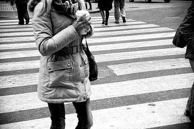 Photograph - Crossings With Coffee New York City by John Rizzuto
