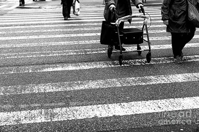 Photograph - Crossings With Help New York City by John Rizzuto