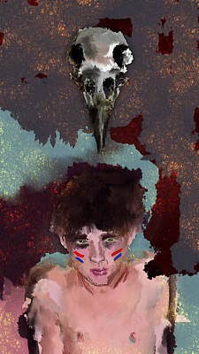 Digital Art - Crow Boy by Luke Blevins