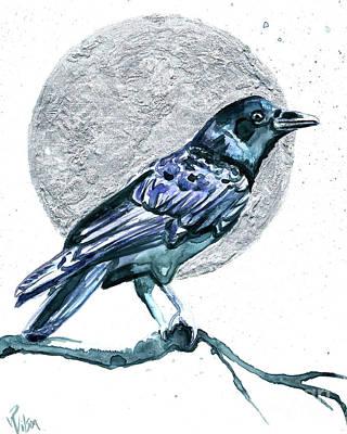 Painting - Crow Moon II by D Renee Wilson