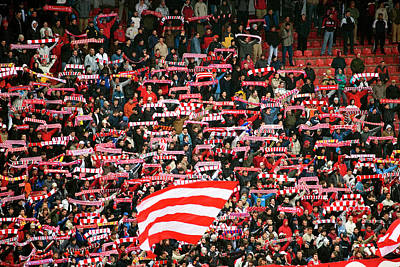 Photograph - Crowd Of Fans Raise Scarves In Support by Greg Elms