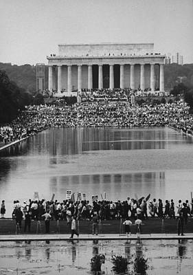 Photograph - Crowd Of People Attending A Civil Rights by John Dominis