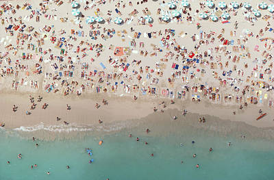 Water Photograph - Crowded View, Aerial View by Baron Wolman