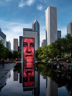 Photograph - Crown Fountain by David Oakill