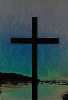 Photograph - Crucifix Silhouette by Karen Silvestri