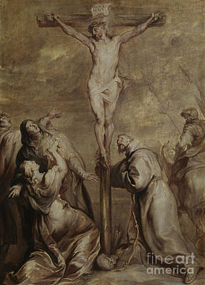 Painting - Crucifixion With Saint Francis by Anthony van Dyck