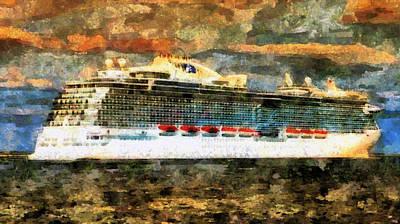 Digital Art - Cruise Liner  by Mario Carini