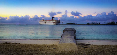 Photograph - Cruise Ship Bahamas by Mark Duehmig