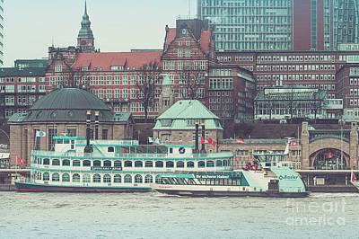 Photograph - Cruise Ships On The Elbe by Marina Usmanskaya
