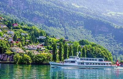 Cruising Lake Lucerne Art Print
