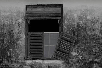 Photograph - Crumblling Window by Stuart Manning