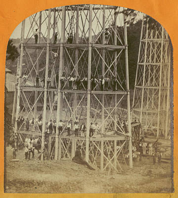 Crumlin Viaduct Art Print by London Stereoscopic Company