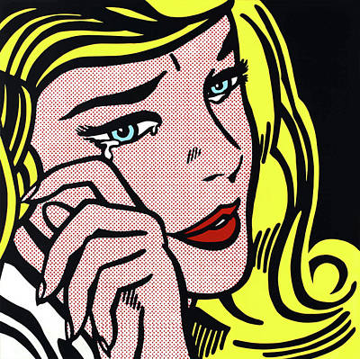Photograph - Crying-girl by Doc Braham - In Tribute to Roy Lichtenstein