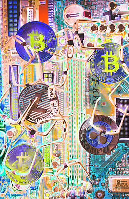 Digital Photograph - Cryptocurrency Circuitry by Jorgo Photography - Wall Art Gallery