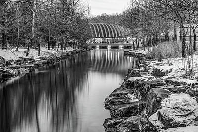Photograph - Crystal Bridges Museum Monochrome In Winter - Northwest Arkansas by Gregory Ballos