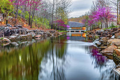 Photograph - Crystal Bridges Museum Surrounded By Spring Colors by Gregory Ballos
