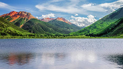 Robert Bellomy Royalty-Free and Rights-Managed Images - Crystal Lake Ouray Colorado by Robert Bellomy