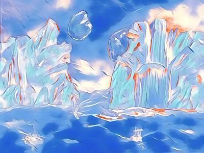 Digital Art - Crystal Sea by Gail Daley