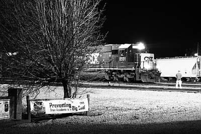 Photograph - Csx 8591 Night 12 by Joseph C Hinson Photography