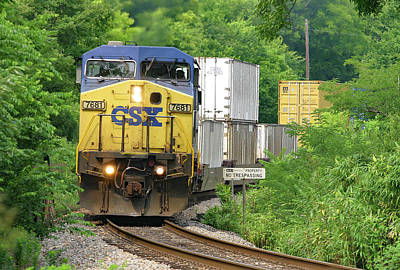 Photograph - Csx Intermodal Train by Joseph C Hinson Photography