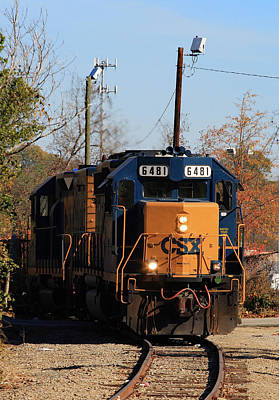 Photograph - Csx Local 22 by Joseph C Hinson Photography