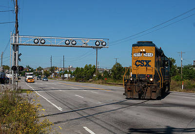 Photograph - Csx Over Assembly 51 by Joseph C Hinson Photography