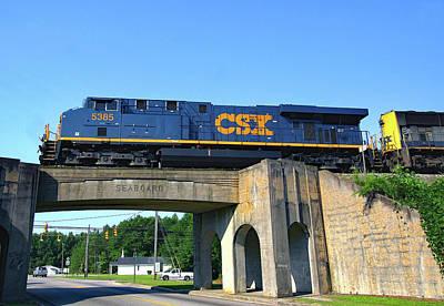 Photograph - Csx Over Sbd Bridge by Joseph C Hinson Photography