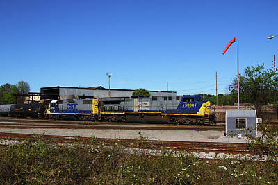 Photograph - Csxt 5000 Color 11 by Joseph C Hinson Photography