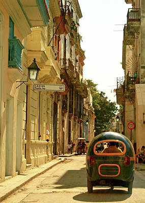 Photograph - Cuba, Cuban Pedicab Taxi by Win-initiative