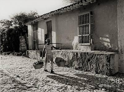 Photograph - Cuba Village Water Carrier by Venancio Diaz