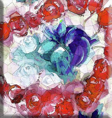 Digital Art - Cubism Rose Valentine by Lisa Kaiser