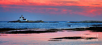 Photograph - Cuckolds Lighthouse At Dusk by Olivier Le Queinec