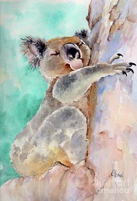 Cuddly Koala Watercolor Painting Art Print