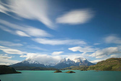 Photograph - Cuernos Del Paine Peaks With Cumulus by Eastcott Momatiuk