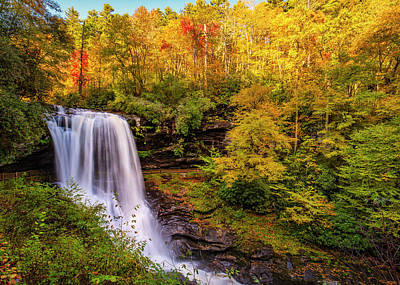 Photograph - Cullasaja Falls In Full Bloom by Andy Crawford