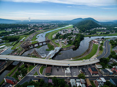 Photograph - Cumberland Maryland by Mid Atlantic Aerial