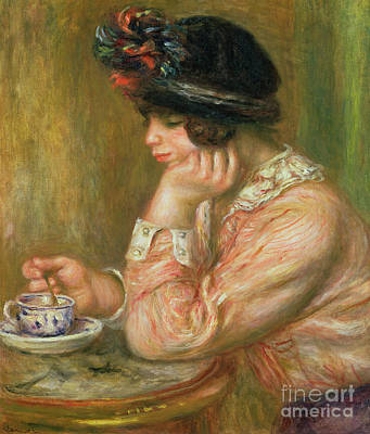 Painting - Cup Of Chocolate, 1914  by Pierre Auguste Renoir