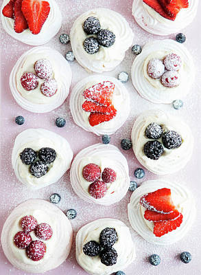 Photograph - Cupcakes With Fruit And Frosting by Cultura Rm Exclusive/line Klein