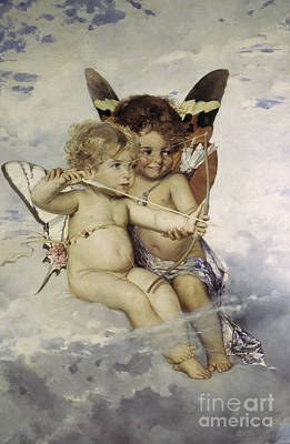 Painting - Cupids, 1881 by Julius Kronberg