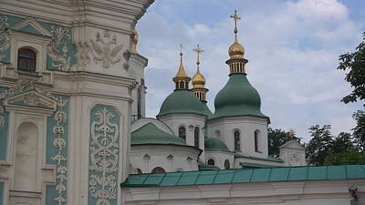 School Tote Bags Royalty Free Images - Cupolas of Saint Sophia Royalty-Free Image by James Hanemaayer