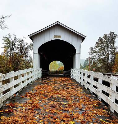 Photograph - Curin Covered Bridge 1 by Lara Ellis