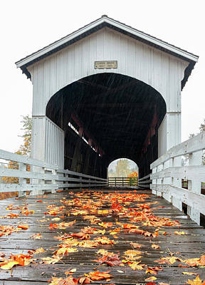 Photograph - Curin Covered Bridge 2 by Lara Ellis
