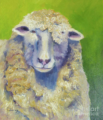Painting - Curley Sheep by Carolyn Jarvis