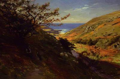 Joseph Farquharson Wall Art - Painting - Currarie Glen Near Ballantrae South Ayrshire 1872 by Farquharson Joseph