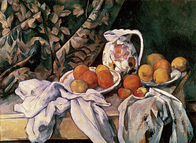 Painting - Curtain, Carafe, And Fruit By Paul by Superstock