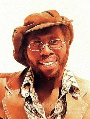 Music Paintings - Curtis Mayfield, Music Legend by Esoterica Art Agency