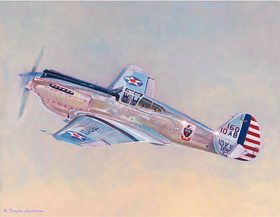 Painting - Curtiss P-40c Warhawk by Douglas Castleman