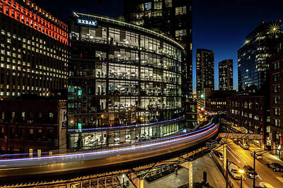 Photograph - Curvy Chicago Train Time Exposure by Sven Brogren