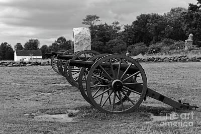 Photograph - Cushings Battery Gettysburg Battlefield by James Brunker